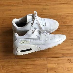 Womens Nike Air Max 90 Ultra 2.0 White Metallic